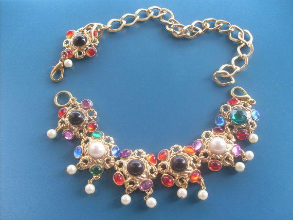 Jewel dual-use: bracelet and necklace - assembling vintage 1960-Wonderful accessory -Art.683-