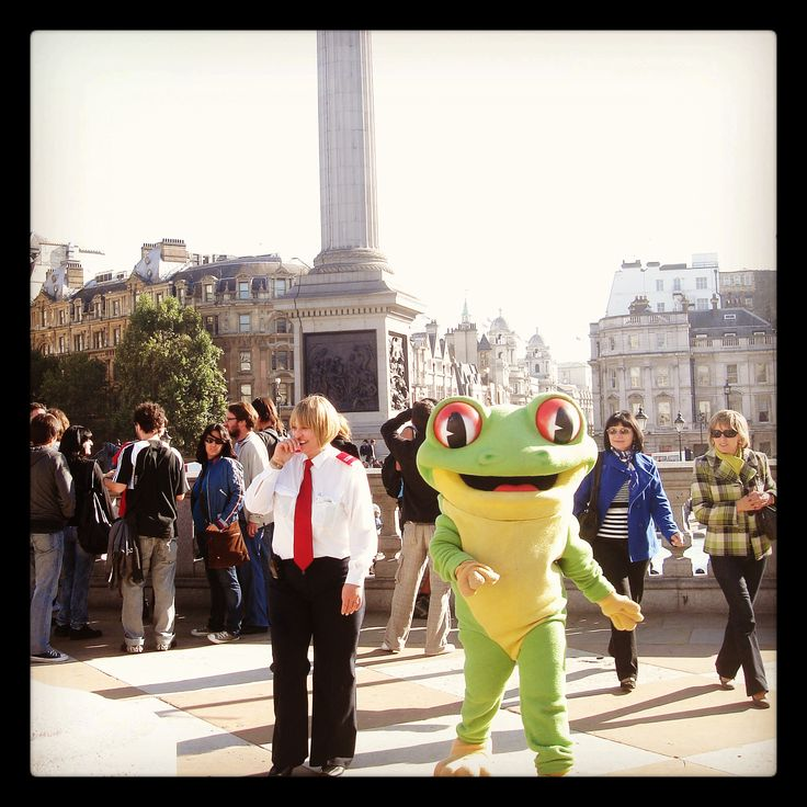 Trafalgar Square is one of Cha Cha's favourite places in the world! If Cha Cha's not there... come and say hello to him at Rainforest Cafe! http://www.therainforestcafe.co.uk