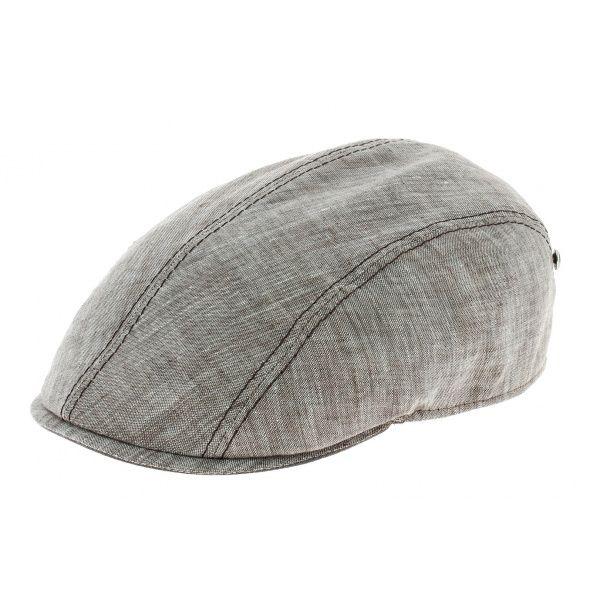 une casquette dans un look vintage revisité - Casquette plate lin ecru