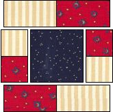 Squares within Squares 2 -- Quilt Block  This would be a fast quilt, could resize and make smaller.