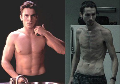 christian bale machinist pictures | ... four day vomit fest looking like christian bale in the machinist