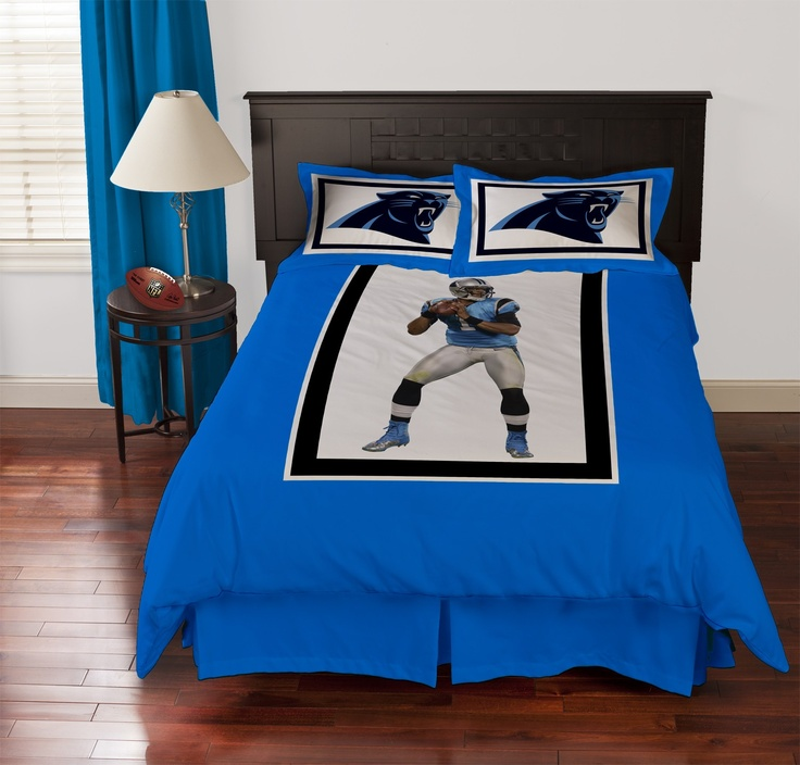 Biggshots Carolina Panthers Cam Newton Comforter Set, Queen By Biggshots.  Official NFL And NFL Player Association License Team Bedding.