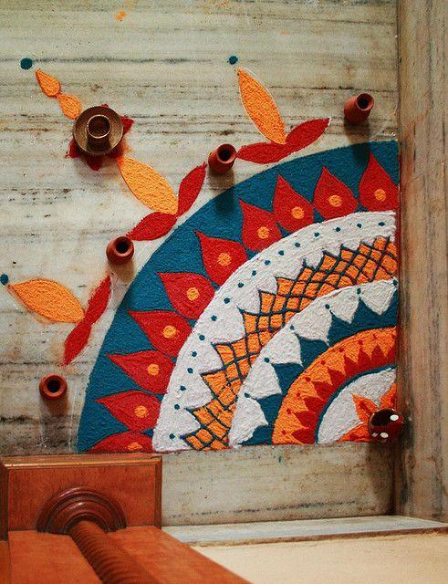 https://www.pinterest.com/pin/542965298796455270/ Diwali Rangoli- beautiful n easy...