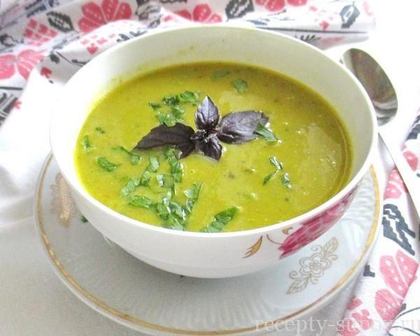 Суп из кабачков и капусты брокколи в мультиварке - пошаговый рецепт с фото