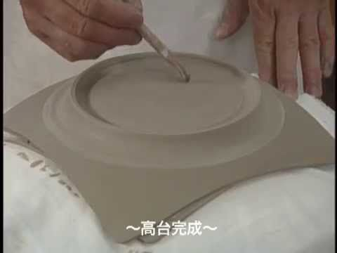 Beautiful slab plate Hand building pottery demo - YouTube