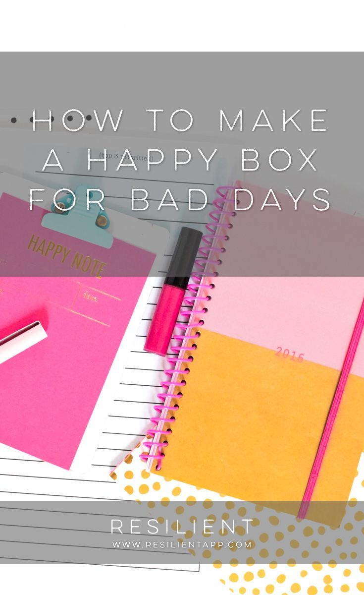 """Sometimes when we have a bad day it would be nice if we could just pull out a box of all our favorite things that make us happy so we can smile again. :) I got the idea to create a """"happy box"""" one summer before I moved out to my own place so I would be prepared for living on my own in case the inevitable bad day ever struck."""