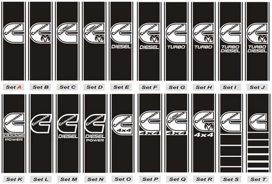 2002-2008 Dodge 1500 2500 3500 Truck COMPLETE Decals Stripes Stickers Kit