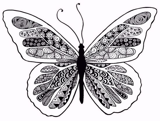 Butterfly Zentangle Design By Starliteyes420 @ DeviantART