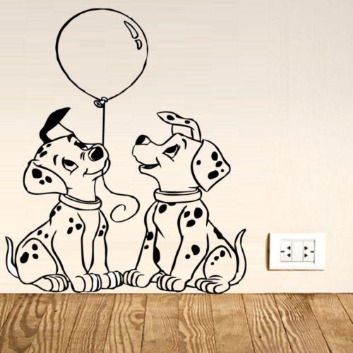 101-DALMATIANS-DOG-Wall-Art-Decal-Sticker-Childrens-Kids-Bedroom-Transfer-Gift