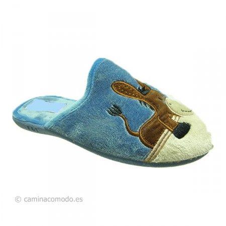 Zapatilla descalza azulón