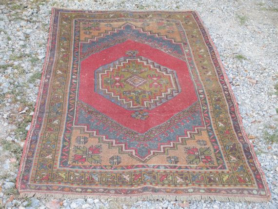 50 % OFF! ANTIQUE OUSHAK RUNNER, 190 x 115 cm ( 75x45 inches )