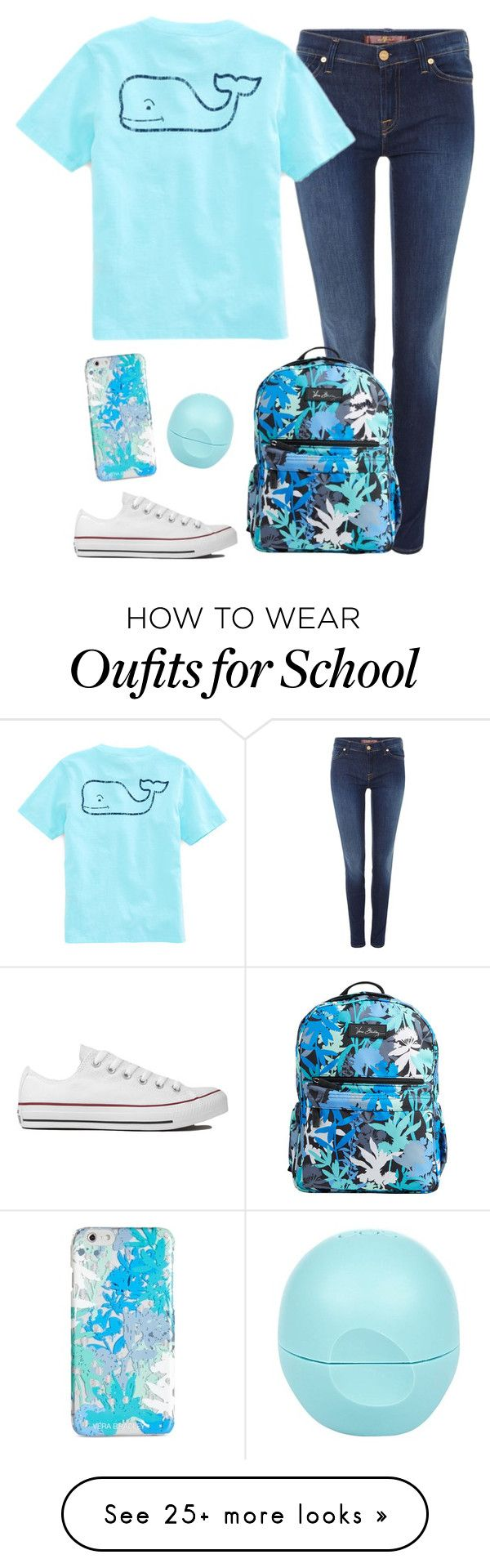 """School//Thuy"" by southern-slayers on Polyvore featuring 7 For All Mankind, Vineyard Vines, Converse, Vera Bradley and River Island"