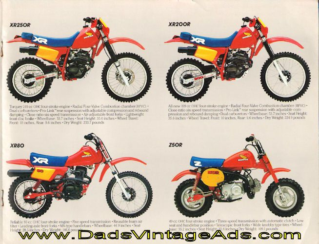 1984 Vintage Honda Dirt Motorcycle Brochure – Quick and Dirty
