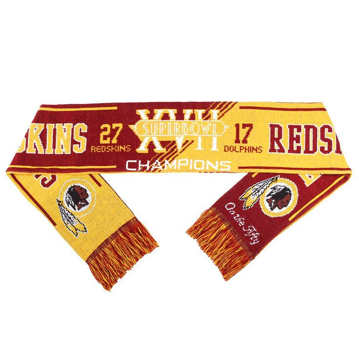 Washington Redskins Super Bowl XVII On the Fifty Acrylic Scarf - $15.99