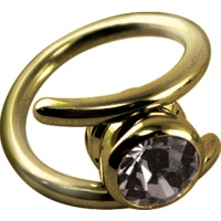 Piercing Nombril Titane RING Cristal - Zircon Gold - Wildcat