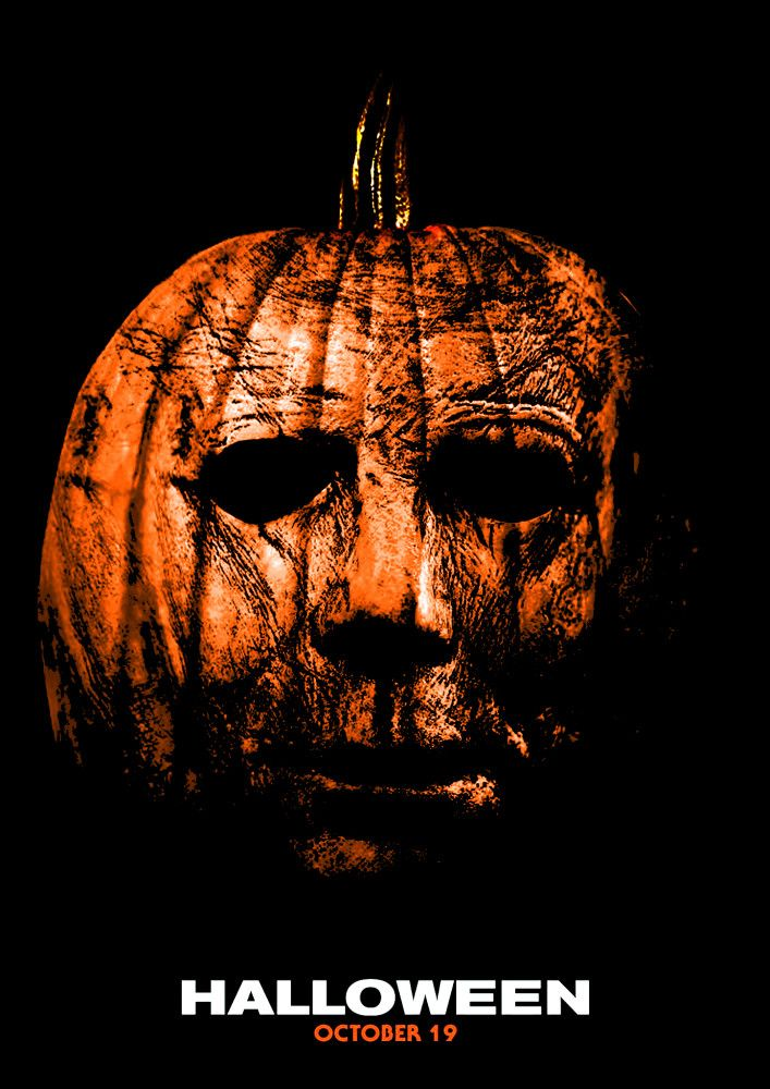 Halloween Movie Pumpkin 2018.Halloween Michael Pumpkin Halloween 2018 Fan Posters In