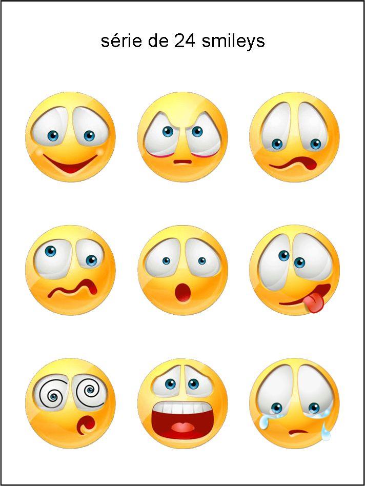 BS - collection de visages - smiley émoticône clipart cartoon - téléchargement gratuit et sans inscription