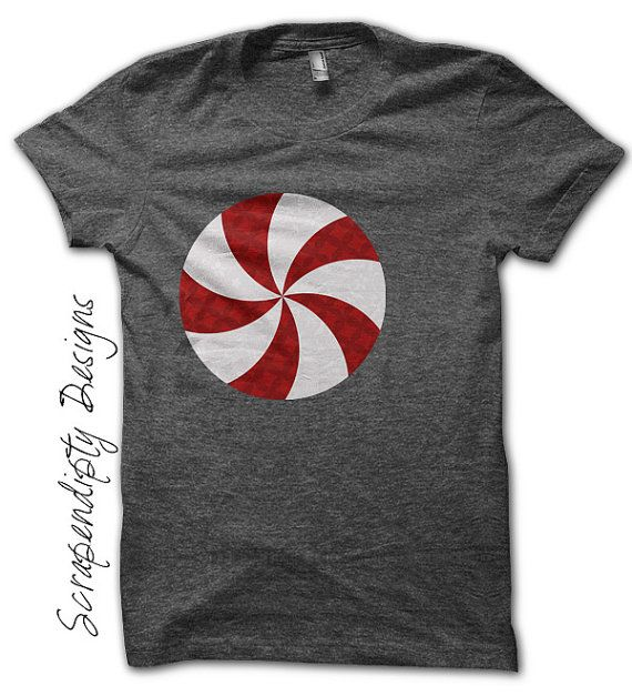 Peppermint Iron on Shirt PDF - Christmas Iron on Transfer / Christmas Printable / Kids Girls Clothing Top / DIY Infant Baby Clothes by ScrapendipityDesigns, $2.50