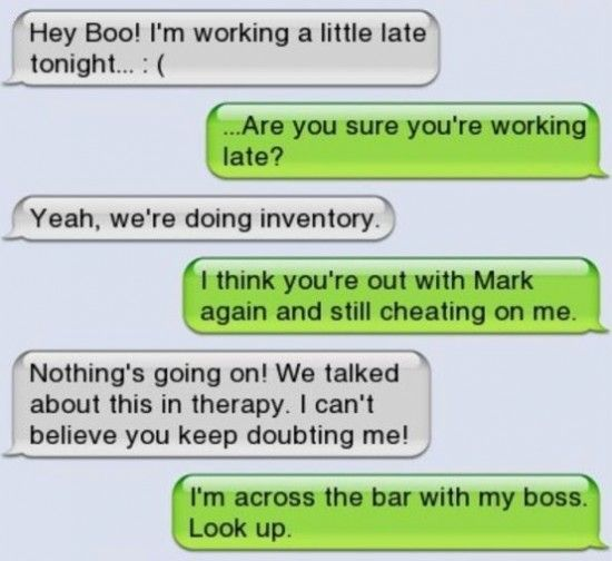 10 Caught Cheating Text Messages