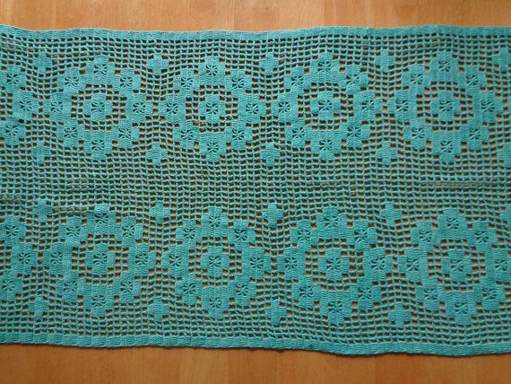 Vintage Runner Cotton Crochet Lace Table Runner Size