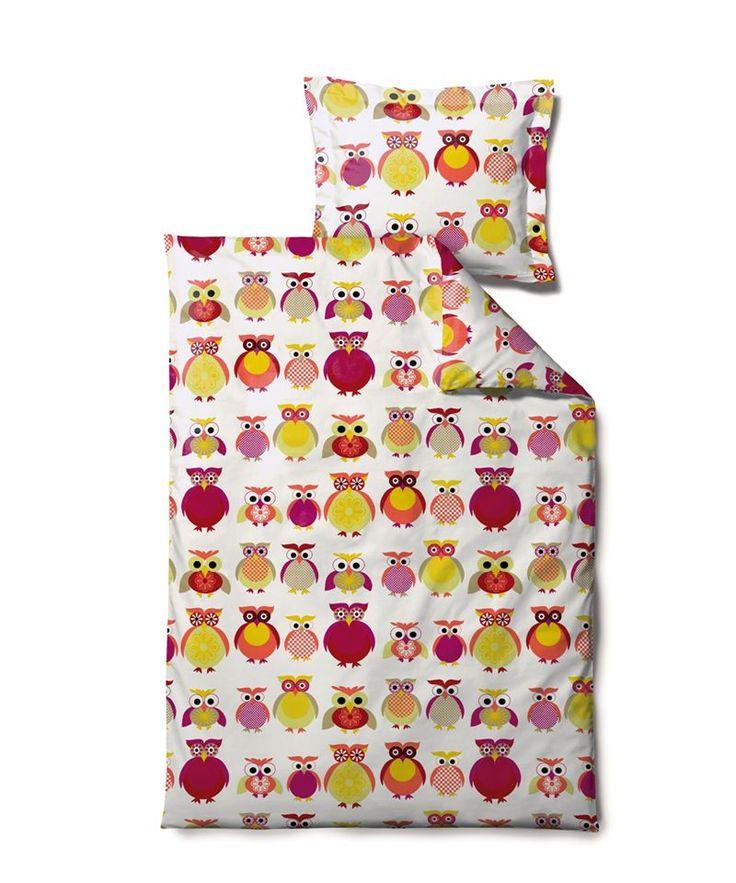 Freddys Family - Pink /Gul - Junior - Sødahl sengetøj