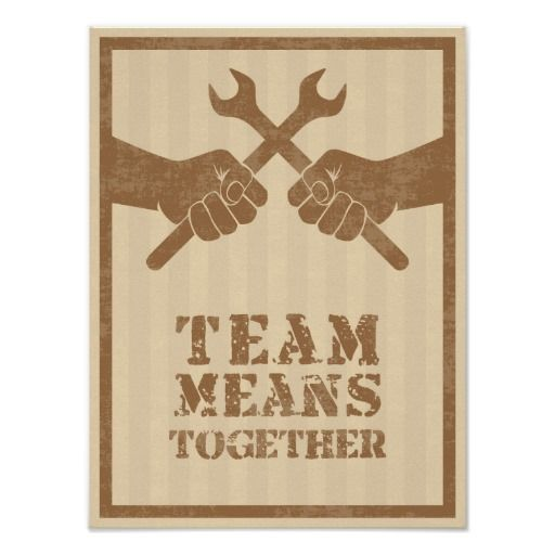 Team means together posters