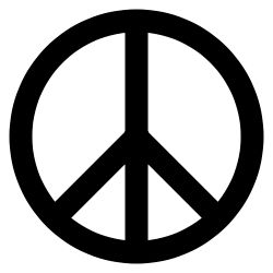 REAL - The Peace Sign as we know it originated in Britain for the nuclear disarmament movement, in 1958, and was designed by Gerald Holtom. It later became a symbol of 1960s counterculture and an internationally recognized symbol for peace (☮).