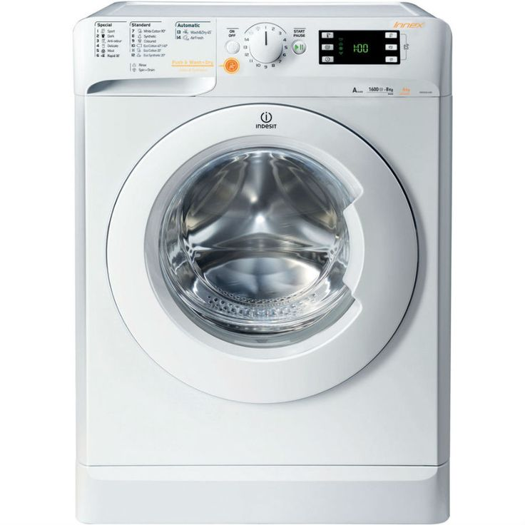 Indesit Innex XWDE861680XW Washer Dryer - White #washingmachines #washerdryers #homeelectricals #kitchenappliances