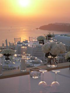 Wedding Set up ... in Heaven - La Maltese Estate Santorini