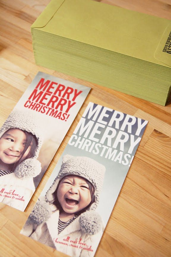 45wall design: Holiday Cards! love these cards & envelopes, too!!!