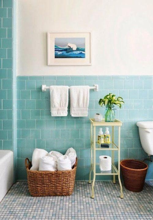 M s de 25 ideas incre bles sobre cuarto de ba o turquesa - Como pintar los azulejos del cuarto de bano ...