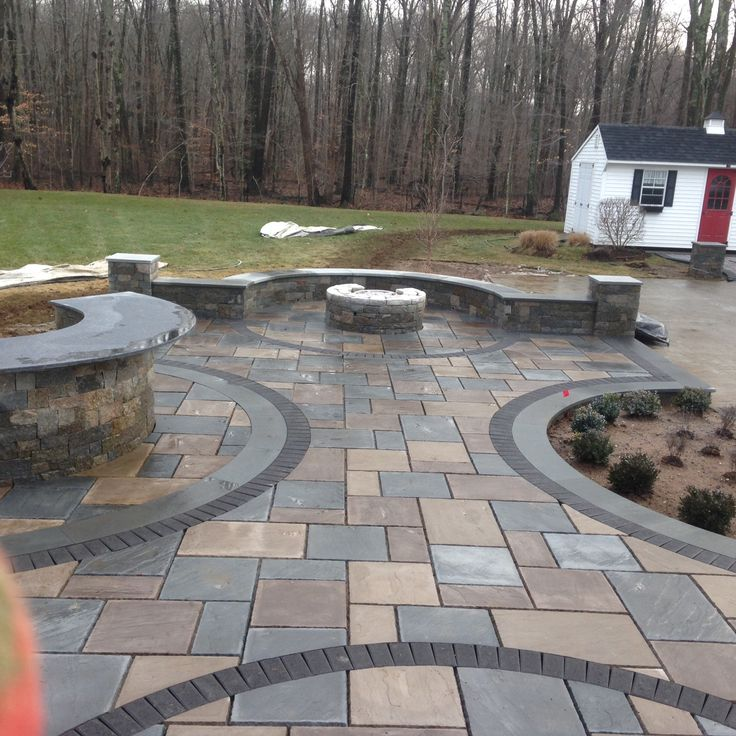 20 best images about torrison portfolio patios on for Pictures of stone patios