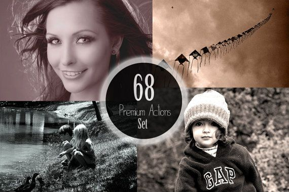 68 Amazing Premium Photoshop Actions Bundle for by ONESMFA on Etsy, $22.00
