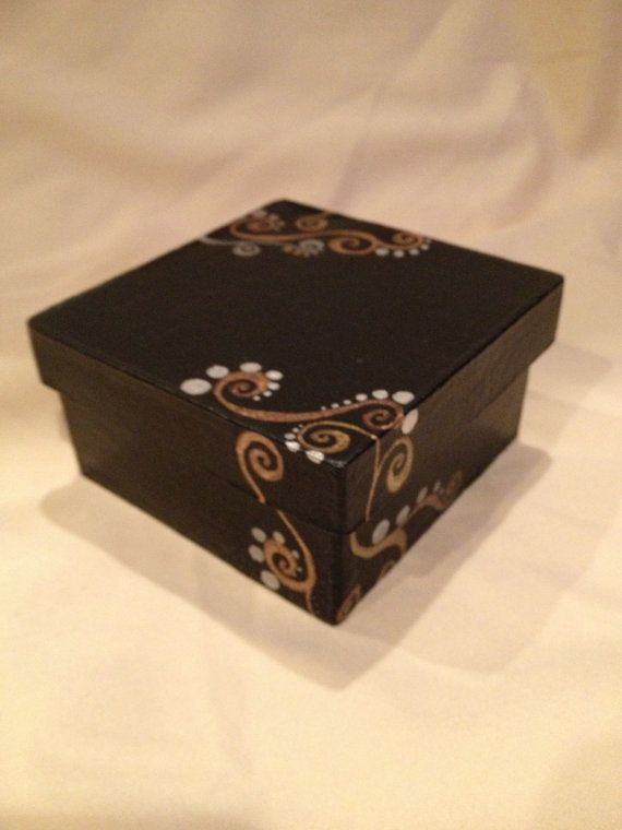 Trinket and Gift Box hand painted by PandPDStudio on Etsy, $18.00