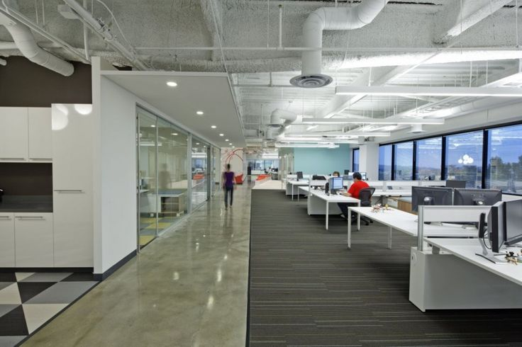 Dreamhost offices in California....Great shots of Interface carpet...