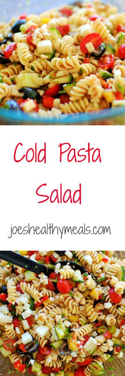 Cold Pasta Salad Recipe Cold Pasta Delicious Salad