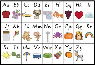 Little Learners: Alphabet Chart Freebie Great for making your own flash cards!