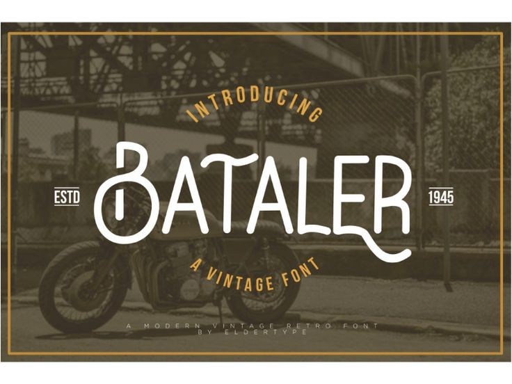 Bataler Vintage Font by Eldertype Studio