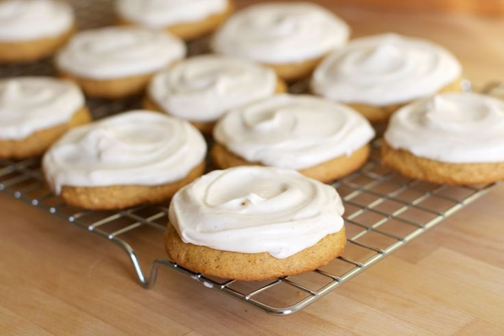 Soft Frosted Pumpkin Spice Cookies   The Baker Chick: Desserts, Pumpkin Recipes, Pumpkin Spices Cookies, Pumpkin Cookies, Pumpkin Spice Cookies, Frostings Pumpkin, Cream Cheese, Pumpkins, Soft Frostings