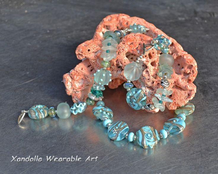 Seaglass Series bracelets by Su Bishop of Xandolla Wearable Art