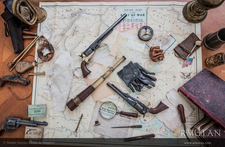 ©#armutan ©#simongarnier #farwest #carte #colt #revolver #longuevue #conquètedelouest #pipe #loupe #pionniers #army #yankee