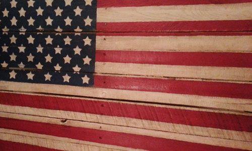 Pallet Flag - Finished Americana Pallet