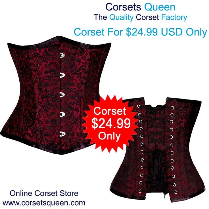 CORSET CANDY RED/BLACK BRO-100 , corset underbust , red corset dress, clothing, cloth, women's