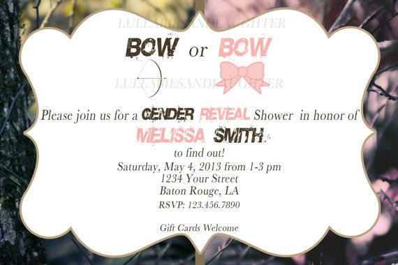 Bow or Bow Realtree Camo Baby Shower by lullabiesandlaughter