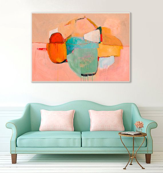 Hey, I found this really awesome Etsy listing at https://www.etsy.com/ca/listing/231786412/large-abstract-painting-print-pink