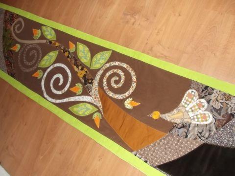 Indacsigás falikép - ezúttal függőlegesben , Otthon, lakberendezés, Lakástextil, Falvédő, Meska