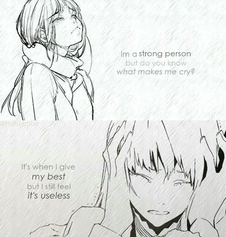 Anime Sad Girl Quotes Pics: 197 Best Anime Quotes... Images On Pinterest