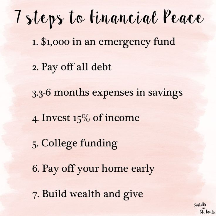 7 baby steps to financial peace //  Dave Ramsey Financial Peace University