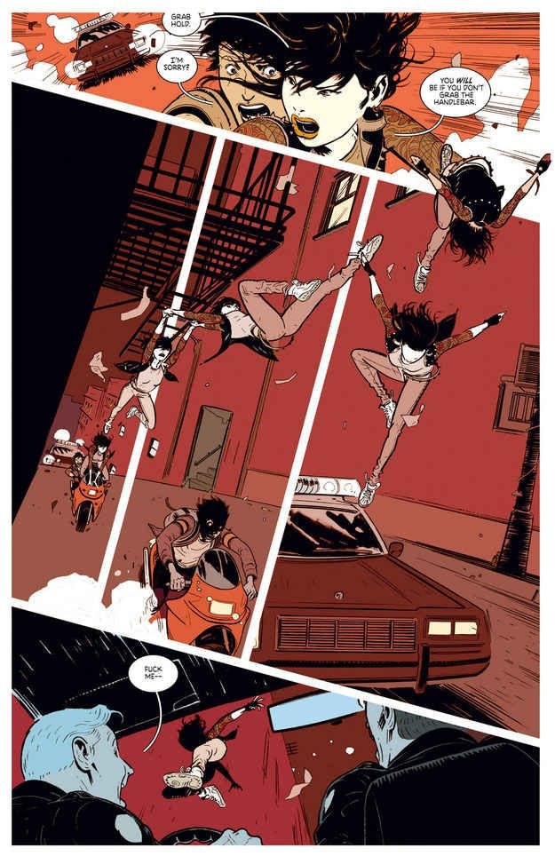 Original layout but doesn't work unfortunately. Deadly Class (Rick Remender, Wesley Craig, Lee Loughridge).