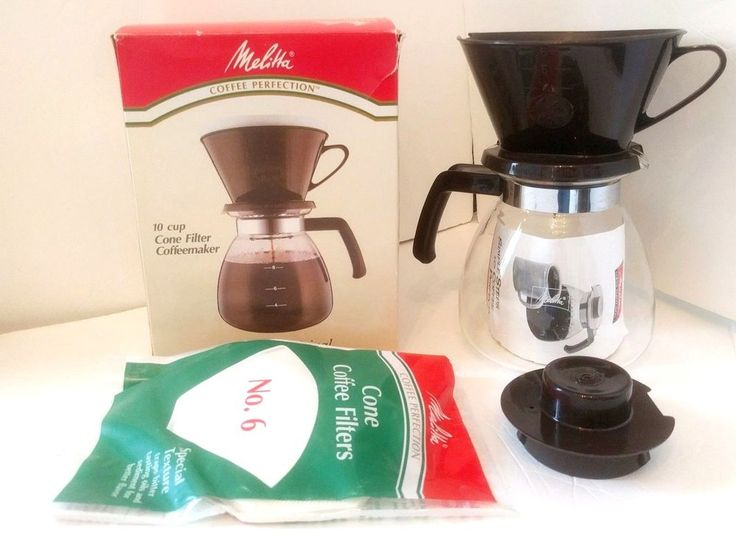 melitta coffee perfection 10cup manual cone filter coffeemaker vintage